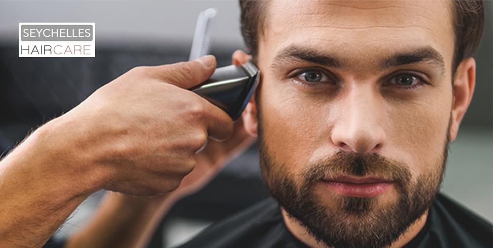 Homme-brun-coupe-rasage-Salon-seychelles-coiffure-orvault