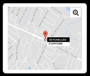 plan d'accès salon Seychelles Coiffure Orvault